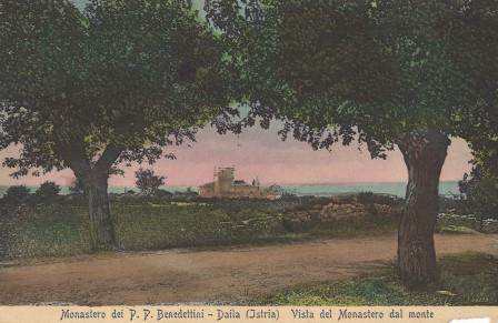 Razglednica Dajla, Benediktinski samostan, 1915.,vlasništvo Muzeja - Museo Lapidarium